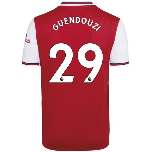 Maillot Foot Arsenal NO.29 Guendouzi 1ª 2019-2020 Rouge